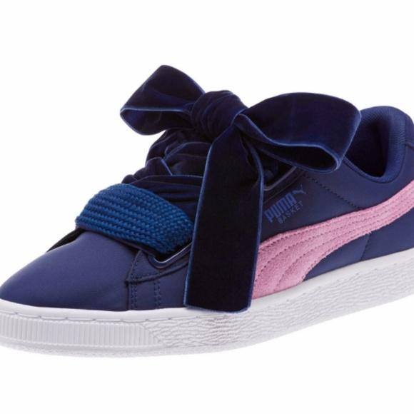 34f8ebe31c3273 Women s PUMA Basket Heart Nylon Sneaker